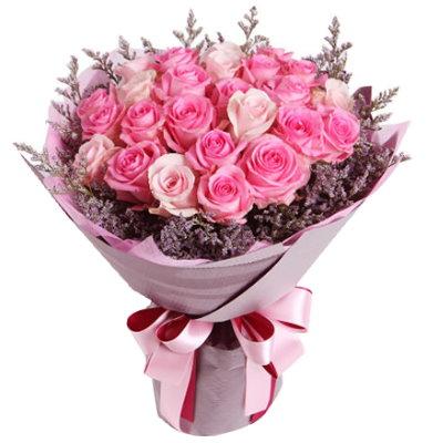 Send 1 Dozen Pink Rose Bouquet To Japan Best Florists In Japan