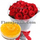 send birthday cake and roses to japan