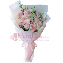 send 24 stalks roses bouquet to japan