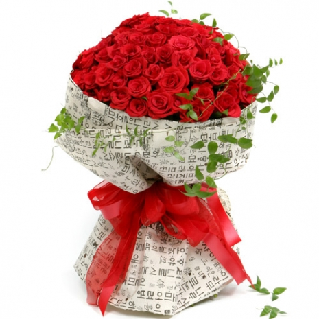 send 36 red rose bouquet with love to japan