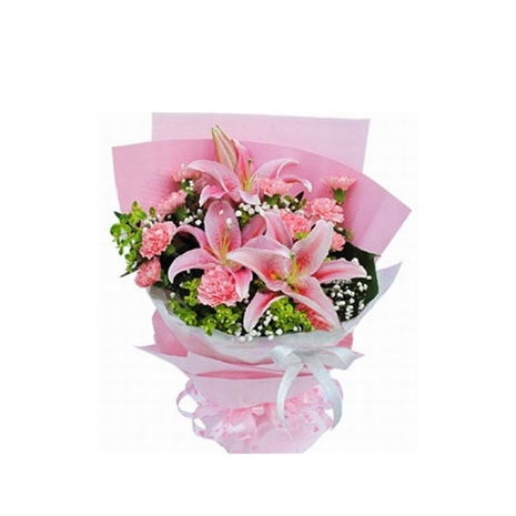 send pink lilies and carnations to japan