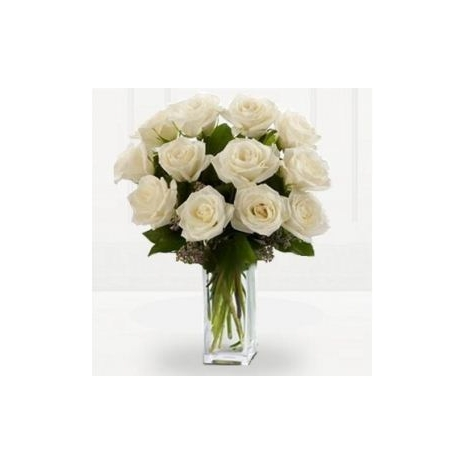 Send Roses Vase To Japanese Delivery Same Day 12 Premium Long Stem