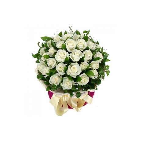 send 18 white roses in bouquet to japan