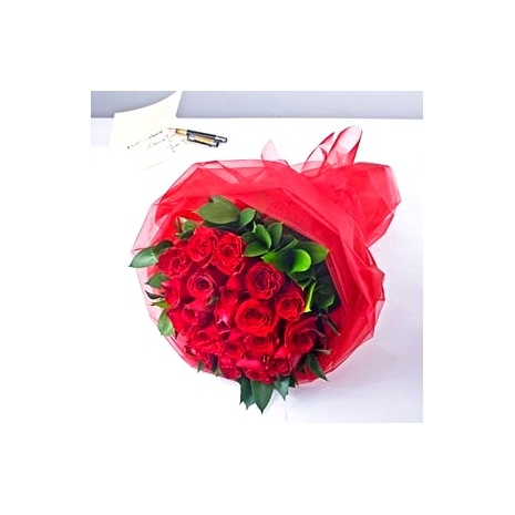 send 24 red roses bouquet to japan