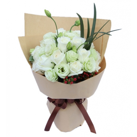 send bouquet of white rose to japan
