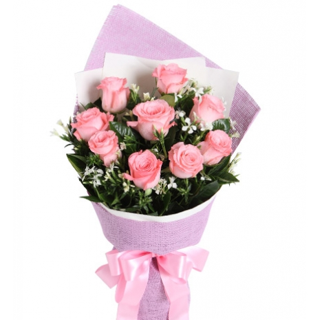 send 12 pink rose of bouquet to japan