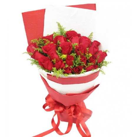 send 2 dozen red roses bouquet to japan