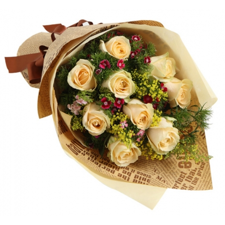 send love bouquet for love birds to japan