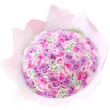 send 100 mixed roses bouquet to japan