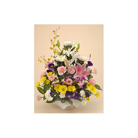 sympathy arrangement basket