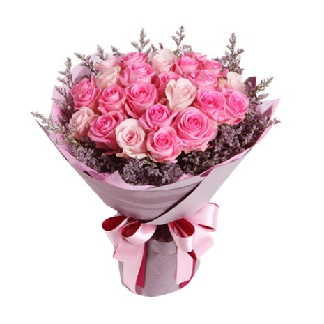 send 1 dozen pink rose bouquet to japan
