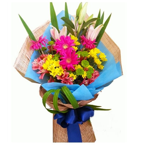 Colored Flowers Bouquet Send To Tokyo Japan