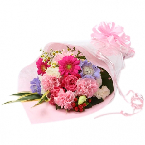 send french pink arrangement to japan