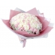 send 100 white and pink mixed bouquet to japan
